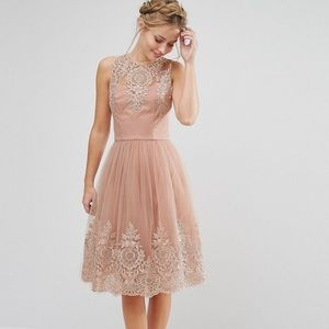 Chi Chi London Premium Lace Midi Dress
